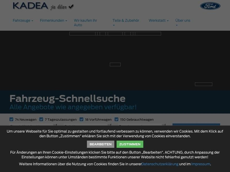 Screenshot von http://www.ford-kadea.de